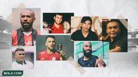 Trivia - Sylvano Comvalius, Peri Sandria, Cristian Gonzales, Oscar Aravena, Dejan Gluscevic, Boaz Solossa, Marko Simic (Bola.com/Adreanus Titus)