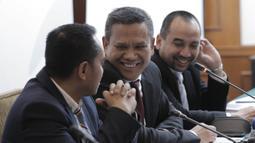 CEO PT Liga Indonesia Baru (LIB), Berlinton Siahaan, saat jumpa pers di Hotel Sultan, Jakarta, Kamis (8/3/2018). Emtek resmi memegang hak siar Liga 1 Indonesia 2018. (Bola.com/M Iqbal Ichsan)