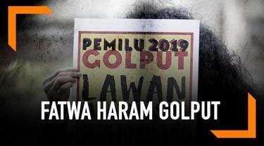 Polemik muncul ketika fatwa haram dan ancaman pidana bagi mereka yang golput pada Pemilu 2019.