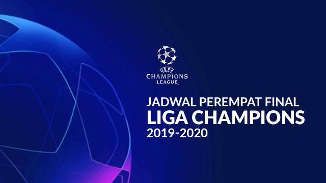 Berita motion grafis jadwal perempat final Liga Champions 2019-2020. Akankah Cristiano Ronaldo reuni dengan Real Madrid?