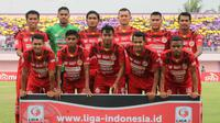 Semen Padang sebelum melawan Persita di Liga 2 2018 di Stadion Benteng Taruna, Tangerang, Rabu (5/9/2018). (Bola.com/Arya Sikumbang)