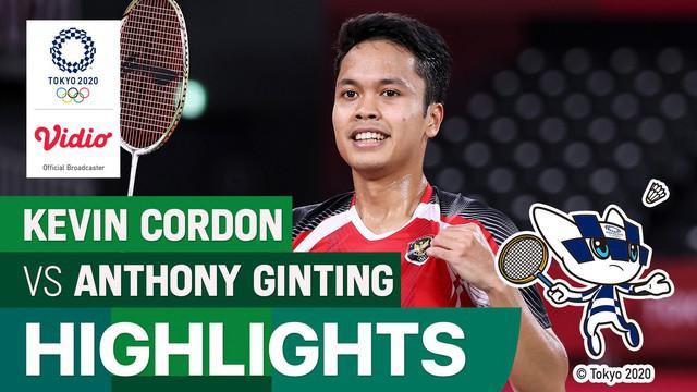 Berita video highlights kemenangan tunggal putra Indonesia, Anthony Sinisuka Ginting yang berhasi meraih medali perunggu Olimpiade Tokyo 2020, Senin (2/8/2021).