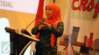 Menkumham Yasonna Laoly saat memberi sambutan pada Pembukaan Nasional Kota/Kabupaten HAM di kawasan Jakarta, Rabu (25/11). (Liputan6.com/Faizal Fanani)