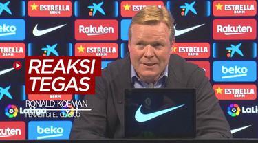 Berita video Pelatih Barcelona, Ronald Koeman, memberi reaksi tegas terkait penalti untuk Real Madrid dari wasit pada laga El Clasico yang digelar Sabtu (24/10/2020) malam hari WIB.