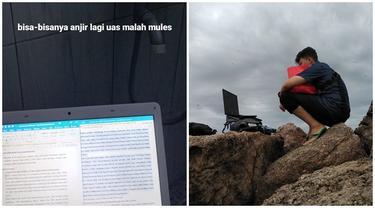 6 Curhatan Orang Kuliah Online di Lokasi Terandom Ini Bikin Tepuk Jidat