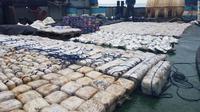 Penyitaan 1,5 ton heroin di pesisir pantai India. (Indian Coast Guard)
