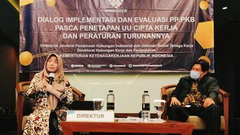 Kemnaker Bahas Implementasi PP dan PKB Pascapenetapan UU Cipta Kerja dan Peraturan Turunannya