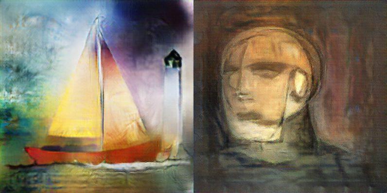 Lukisan dibuat dengan kecerdasan buatan. (Doc: Cambridge Consultants)