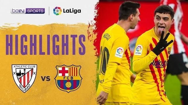 Berita video highlights Liga Spanyol 2020/2021 antara Athletic Bilbao melawan Barcelona yang berakhir dengan skor 2-3, di mana Lionel Messi menorehkan 2 gol dalam laga tersebut, Kamis (7/1/2021) dinihari WIB.