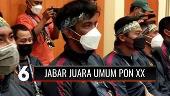 VIDEO: Juara Umum Usai Meraup 353 Medali di PON XX, Ridwan Kamil: Rp 300 M, Untuk Bonus