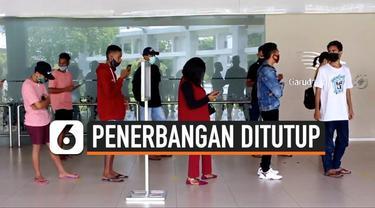 Sejumlah calon penumpang kecewa dan marah di Bandara Ngurahrai Bali. Mereka tidak bisa menukar tiket yang terlanjur dibeli dengan uang tunai.