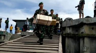 218 Satgas Kesehata KLB campak dan gizi buruk kembali disebar ke seluruh pelosok kampung di Papua.