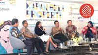 Marine Novita, Country Manager Rumah.com tengah menyampaikan paparannya dalam sesi Ngobrol Properti Bareng Kadin, Kamis (26/4).