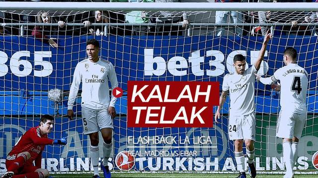 Berita video flashback jelang La Liga 2019-2020 kembali bergulir, di mana Real Madrid pernah kalah telak dari Eibar pada 2018.