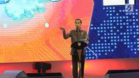 Presiden Joko Widodo (Jokowi) memberikan sambutan saat membuka  Indonesia Business and Development Expo (IBD Expo) di Jakarta Convention Center, Rabu (20/9). IBD Expo diselenggarakan mulai 20 hingga 23 September mendatang. (Liputan6.com/Angga Yuniar)