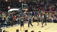 Kobe Bryant Berlatih di Ricoh Coliseum jelang NBA All-Star 2016 (Thomas/Liputan6.com)