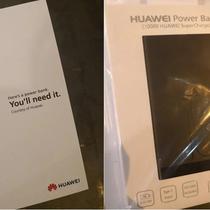 Powerbank Huawei yang dibagikan kepada pengantre iPhone XS di Singapura (Foto: Gizmochina)