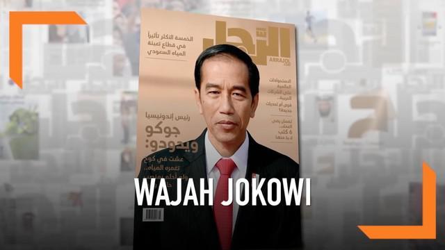 Wajah Presiden Joko Widodo hadir di sampul majalah Arab Saudi Ar-Rajol. Jokowi berbicara soal keberagaman umat di Indonesia hingga terorisme.