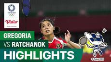 Berita video highlights 16 besar tunggal putri bulutangkis Olimpiade Tokyo 2020, Gregoria Mariska Vs Ratchanok Intanon, Kamis (29/7/21).
