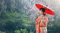 Ilustrasi wanita Jepang (iStockphoto)