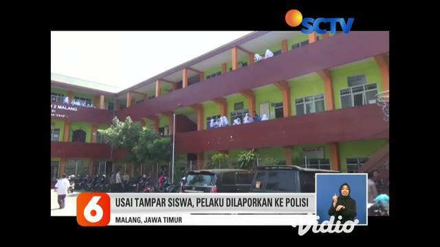 Motivator yang sedang membagikan ilmunya dalam seminar di sebuah sekolah di Malang menampar 10 orang siswa. Pelaku ditangkap setelah aksinya terekam kamera ponsel siswa dan tersebar luas.
