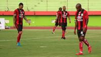 Trisula Persipura di Liga 1 2018, Marcel Sacramento, Hilton Moreira, dan Boaz Solossa. (Bola.com/Aditya Wany)