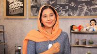 Ayu Azhari dalam talk show Ngopi Daring Bela Negara, di kantor Kementerian Pertahanan Kamis, (21/10/21). (IST)