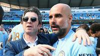 Eks gitaris Oasis, Noel Gallagher, menghadiri pesta juara Manchester City. (Twitter)