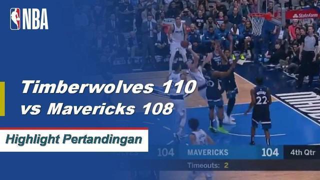 Minnesota Timberwolves bertahan untuk menang 110-108 di Dallas atas Mavericks di belakang 28 poin dan 13 rebound dari Karl Anthony-Towns.