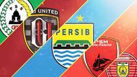 Trivia - Logo Klub PSS Sleman, Bali United, Persib Bandung, PSM Makassar, Persiraja Banda Aceh (Bola.com/Adreanus Titus)