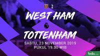 Premier League: West Ham United vs Tottenham Hotspur. (Bola.com/Dody Iryawan)