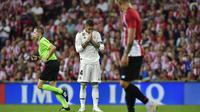 Kapten Real Madrid, Sergio Ramos, menyesali kegagalan timnya mengalahkan Athletic Bilbao. (AP Photo/Alvaro Barrientos)