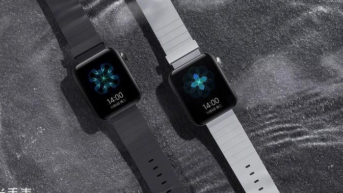 Smart watch pertama milik Xiaomi, Mi Watch, punya desain yang mirip dengan Apple Watch? (Foto: Xiaomi/ Weibo)