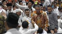Menteri Desa, Pembangunan Daerah Tertinggal dan Transmigrasi Eko P. Sandjojo dihadapan ribuan kepala desa saat acara Silaturahmi Nasional Pemerintahan Desa se - Indonesia Tahun 2019