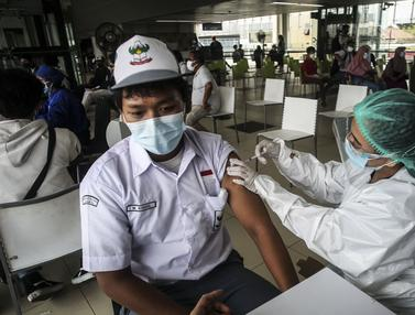 FOTO: Stasiun MRT Jakarta Gelar Vaksinasi COVID-19