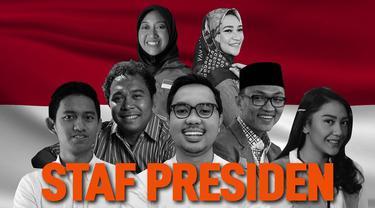 Presiden Joko Widodo umumkan staf khususnya pada 21 November 2019. Terdapat 14 staf khusus presiden, tujuh di antaranya merupakan staf baru dan berusia muda.