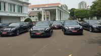 Istana Kepresidenan menyewa mobil Marcedes Benz untuk perwakilan negara yang akan menghadiri pelantikan presiden. (Merdeka.com)