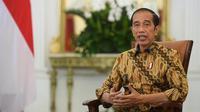 Presiden Jokowi saat memberi pernyataan terkait KPK di Istana Merdeka, Jakarta, Senin (17/5/2021). (Biro Pers Media Istana)