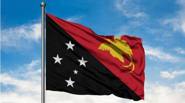 ilustrasi bendera Papua Nugini (AFP Photo)