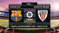 Jadwal La Liga, Barcelona vs Athletic Bilbao. (Bola.com/Dody Iryawan)