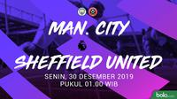 Premier League - Manchester City Vs Sheffield United (Bola.com/Adreanus Titus)