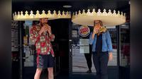 Burger King Jerman membuat mahkota bagi pelanggannya untuk menerapkan jarak sosial dengan pelanggan lainnya (Dok.Facebook/Burger King Deutschland)