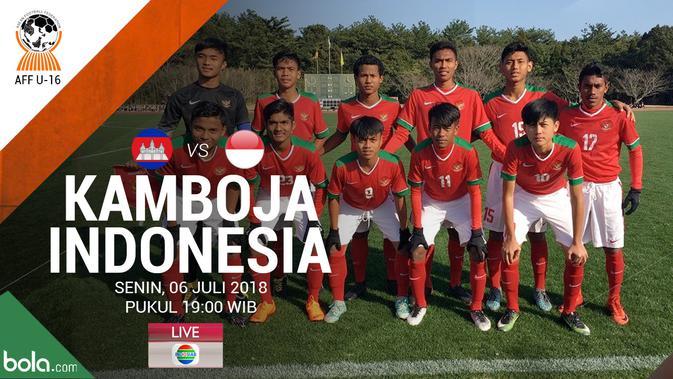 Indosiar Streaming Facebook: Live Streaming Piala AFF U-16 2018 Di Indosiar: Kamboja Vs