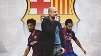 Barcelona - Andre Gomes, Pep Guardiola, Arda Turan (Bola.com/Adreanus Titus)