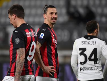 FOTO: Takluk 0-2 dari Spezia, AC Milan Bersiap Dikudeta Inter Milan