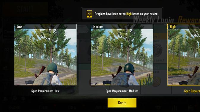 Pengaturan otomatis di Realme 3 Pro saat memulai PUBG Mobile (Liputan6.com/Agustinus M.Damar)