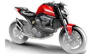 Sketsa motor baru Ducati. (Cycleworld)