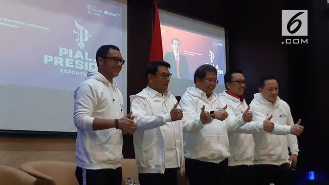 Konferensi Pers Piala Presiden Esports 2019 di Jakarta, Senin (28/1/2019). Liputan6.com/ Agustinus Mario Damar