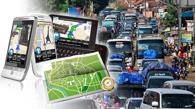 Ilustrasi GPS untuk mudik (Liputan6.com/Sangaji)