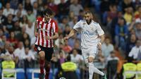 Real Madrid bermain imbang dengan skor 1-1 lawan Athletic Bilbao pada lanjutan La Liga 2017-2018, Kamis (19/4/2018). (AP Photo/Francisco Seco)